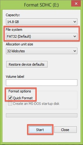 How to Format an SD Card to FAT32